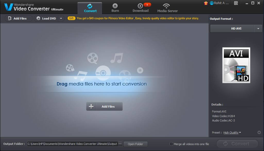 Step One Open Wondershare Video Converter Ultimate