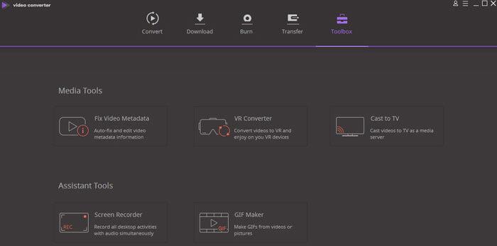 Wondershare Video Converter Ultimate 10 Toolbox