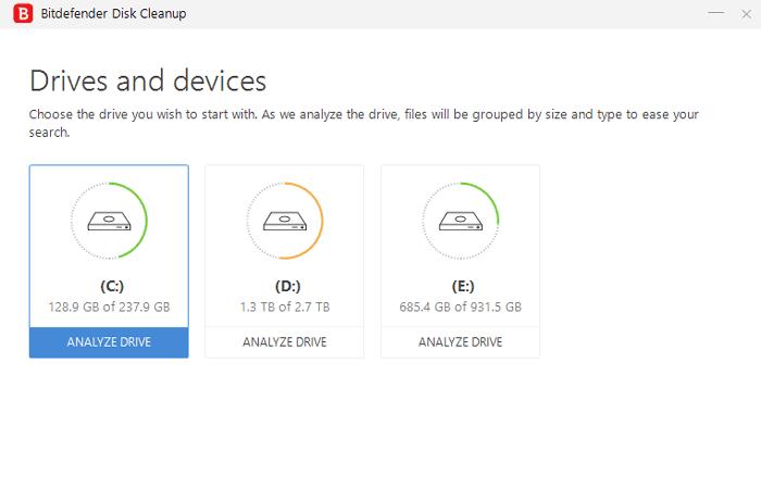 Bitdefender total security vs internet security- disk cleanup
