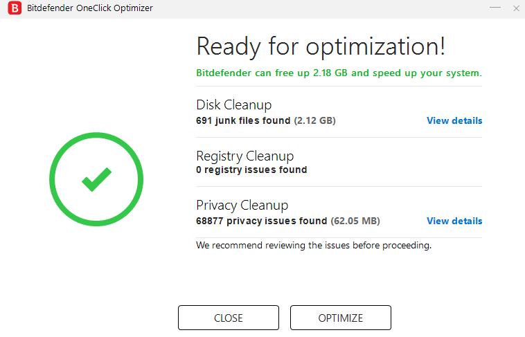Bitdefender internet Security vs Total Security-oneclick optimizer