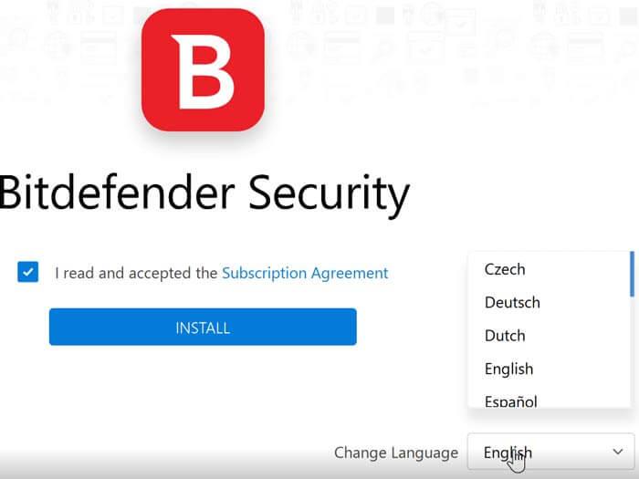 Bitdefender Offline installer french-spanish-dutch