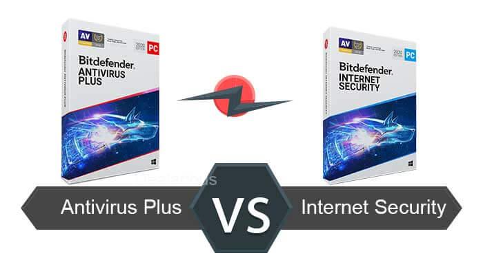 Bitdefender Antivirus plus vs internet security