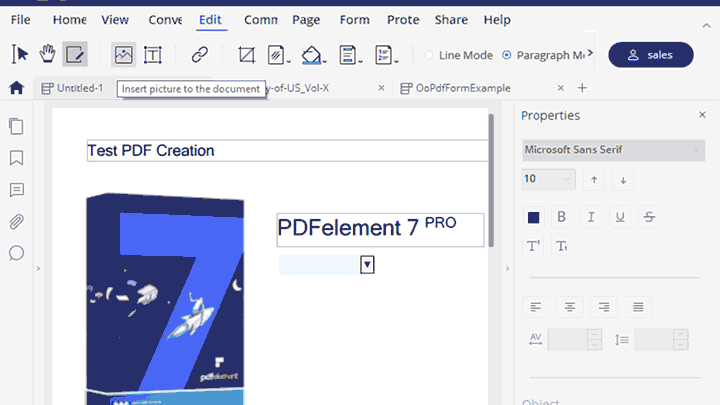 Wondershare PDFelement 7 pro create