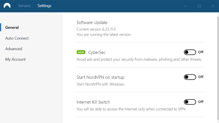 nordvpn settings review