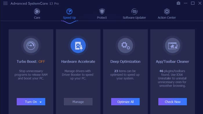 Advanced SystemCare 13 Pro Review: Speedup Module