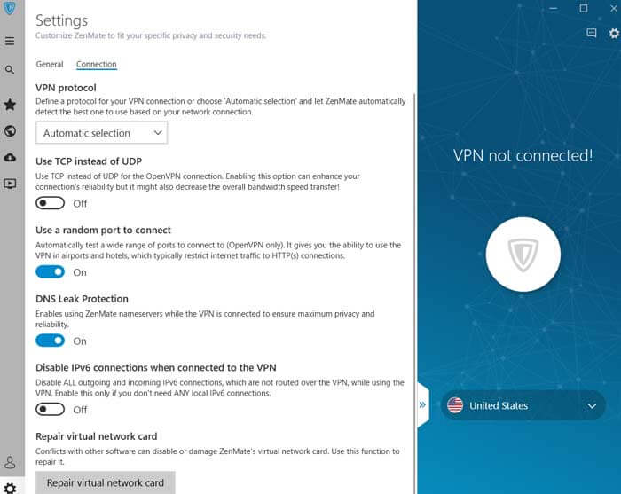 Zenmate vpn connections settings
