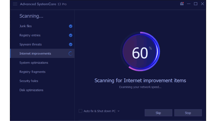 Advanced SystemCare 13 Pro review: Scan process