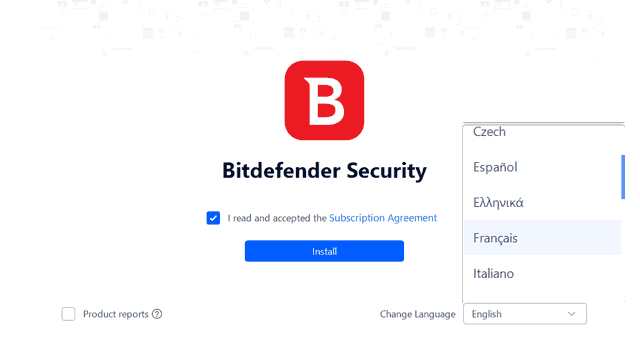 Bitdefender Total Security Spanish French installer