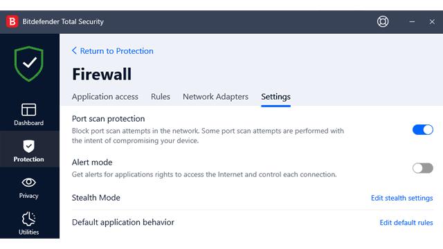 Bitdefender Firewall Review