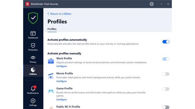 Bitdefender Profiles review