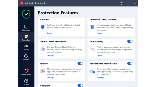 Bitdefender Total Security Protection Module review