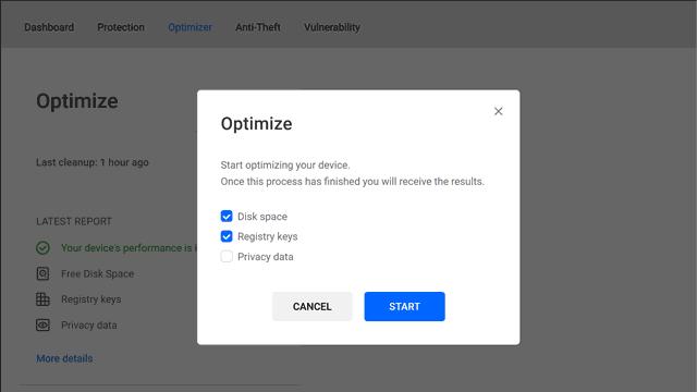 Bitdefender Central account Optimizer