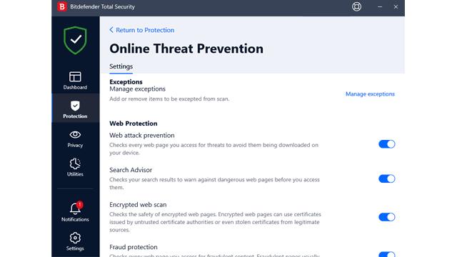 Bitdefender Online Threat Prevention review