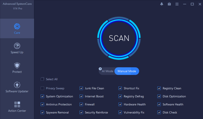 Advanced SystemCare 14 Pro Care