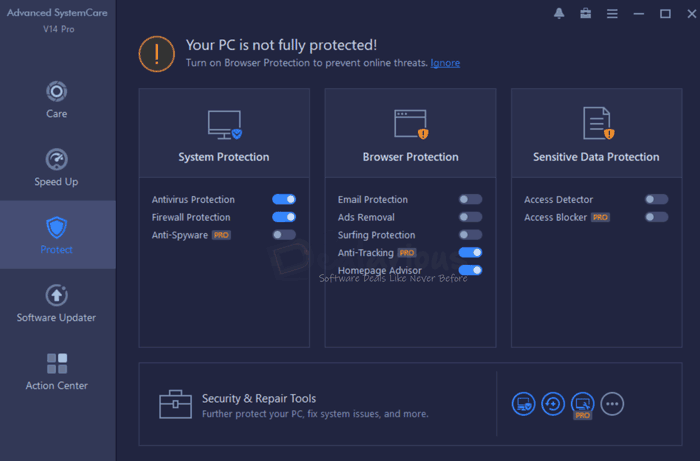 Advanced SystemCare Pro 14 Protect