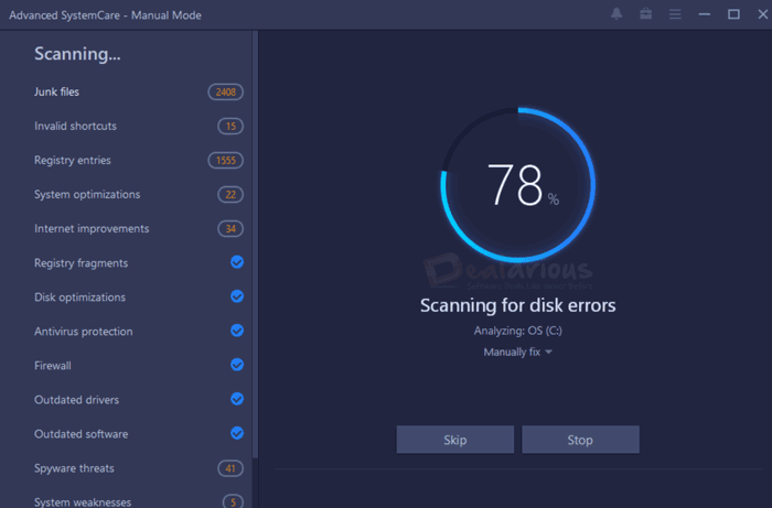 Advanced SystemCare Pro 14 Scan