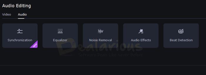 Movavi Video Editor Audio Options