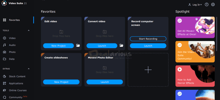 Movavi Video Suite Review Interface