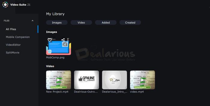 Biblioteca de vídeo da Movavi