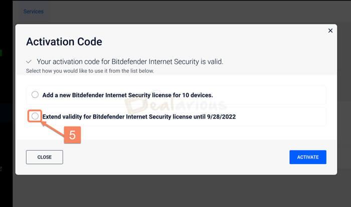 Extend Bitdefender License