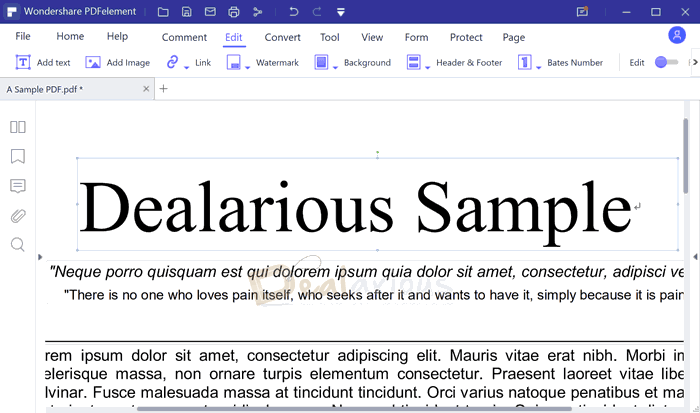 PDFelement 8 pro editing