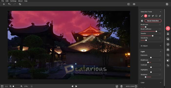 Movavi Picverse select photo section