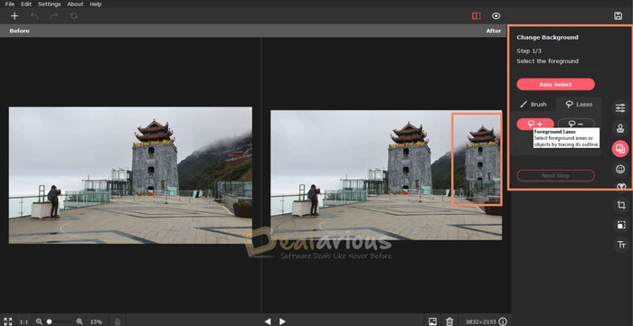 Change photo background with Picverse