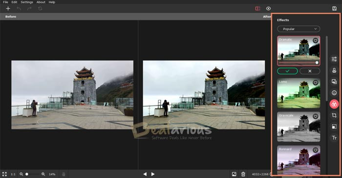 Add effects to photos with Picverse