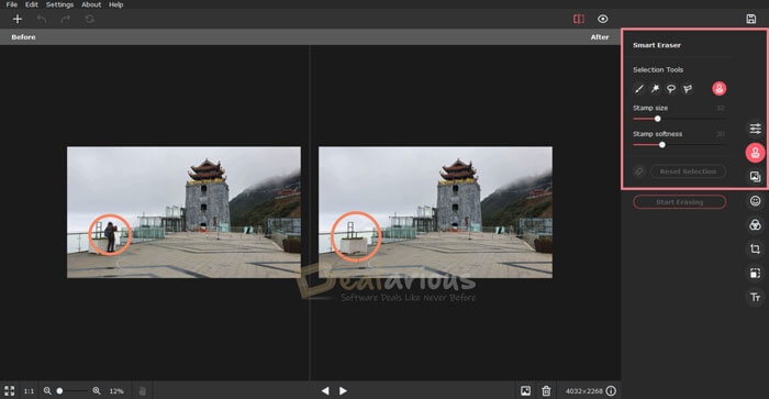 Remove unwanted objects with picverse