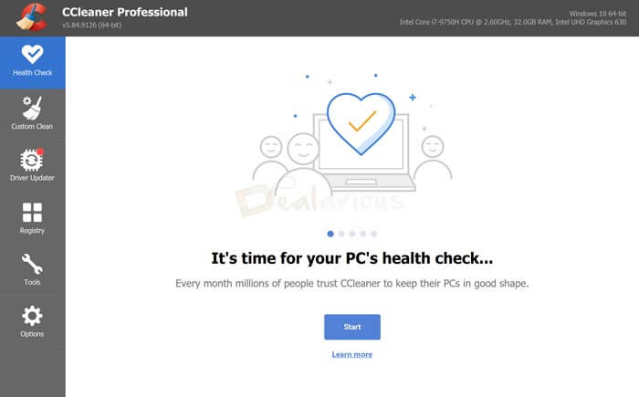 CCleaner Pro Health Check